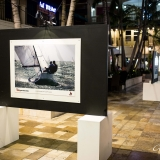 Bacardi Miami Sailing Week exhibition at Coco Walk.
