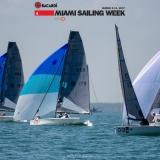 VX Evo Class 013 sailing at Bacardi Miami Sailing Week.