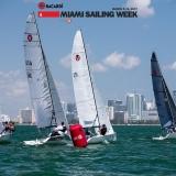 Viper 640 Class sailing at Bacardi Miami Sailing Week.