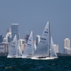 Star Class 8179, 8482, 8446 sailing in Bacardi Miami Sailing Week, day two.
