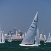 Star Class 7816 sailing in Bacardi Miami Sailing Week, day one.