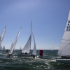 Star Class, 8084, 8468, 8482, 8172 sailing in Bacardi Miami Sailing Week, day two.