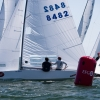 Star Class 8482 sailing in Bacardi Miami Sailing Week, day two.