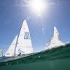 Star Class 8229 sailing in Bacardi Miami Sailing Week, day one.