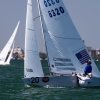 Star Class 8320 sailing in Bacardi Miami Sailing Week, day one.