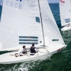 Star Class 8287 sailing in Bacardi Miami Sailing Week, day one.