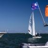 Star Class 8320 sailing in Bacardi Miami Sailing Week, day one.