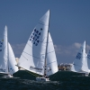 Star Class 8474 and 8494 sailing in Bacardi Miami Sailing Week, day one.