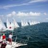 Star Class start at day three of Bacardi Miami Sailing Week.