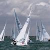 Star Class 8474 sailing in Bacardi Miami Sailing Week, day three.