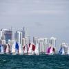 J70 Class sailing in Bacardi Miami Sailing Week, day four.