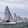 Melges 20 Class start at Bacardi Miami Sailing Week, day four.