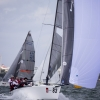 Mikey, Melges 20 Class, sailing in Bacardi Miami Sailing Week, day five.