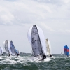 Melges 20 Class sailing in Bacardi Miami Sailing Week, day five.