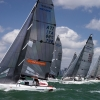 Melges 24 Class start at Bacardi Miami Sailing Week, day five.