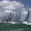 Melges 20 Class start at Bacardi Miami Sailing Week, day five.