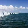 Star Class sailing at the Bacardi Cup, Bacardi Miami Sailing Week, day three.