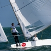 Star Class 8210 sailing at the Bacardi Cup, Bacardi Miami Sailing Week, day three.