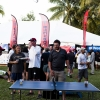 Bacardi Miami Sailing Week hospitality tent and mid-week party.
