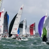 Viper Class sailing at Bacardi Miami Sailing Week, day four.