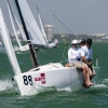 J70 Class 384 sailing at Bacardi Miami Sailing Week, day four.
