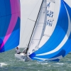 J70 Class 755 sailing at Bacardi Miami Sailing Week, day four.