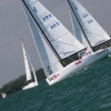 J70 Class 403 sailing at Bacardi Miami Sailing Week, day five.
