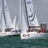 J70 Class 456 sailing at Bacardi Miami Sailing Week, day five.