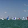 J70 Class sailing at Bacardi Miami Sailing Week, day five.
