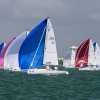 J70 Class 311 sailing at Bacardi Miami Sailing Week, day five.