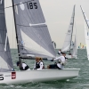 VX One Class 185 sailing at Bacardi Miami Sailing Week, day six.