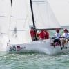 J70 Class 403 sailing at Bacardi Miami Sailing Week, day six.
