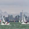 J70 Class 187 and 335 sailing at Bacardi Miami Sailing Week, day six.