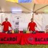 Bacardi Miami Sailing Week hospitality tent, opening reception.