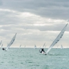 Star Class, bow 97, sailing at Bacardi Miami Sailing Week, day one.