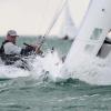 Star Class, bow 35, sailing at Bacardi Miami Sailing Week, day one.
