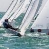 Star Class 8279 sailing at Bacardi Miami Sailing Week, day two.