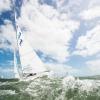 Star Class 846 sailing at Bacardi Miami Sailing Week, day three.