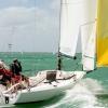 J70 Class 343 sailing at Bacardi Miami Sailing Week.