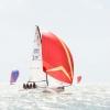J70 Class 776 sailing at Bacardi Miami Sailing Week.