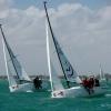 J70 Class 456 and 384 sailing at Bacardi Miami Sailing Week.