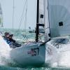 J70 Class 157 sailing at Bacardi Miami Sailing Week.