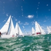 J70 Class 220 sailing at Bacardi Miami Sailing Week.