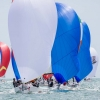 J70 Class 49 sailing at Bacardi Miami Sailing Week, day six. Photo by Cory Silken.