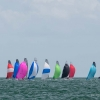 VX One Class sailing at Bacardi Miami Sailing Week, day six. Photo by Cory Silken.