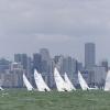 Star Class sailing at Bacardi Miami Sailing Week, day one.
