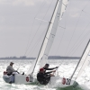 Star Class, bow 20 and 22, sailing at Bacardi Miami Sailing Week, day one.
