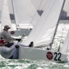 Star Class, bow 22, sailing at Bacardi Miami Sailing Week, day one.