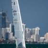 A Cat Class Usa 121,Marstrom, withCarla Schiefer, sailing in Bacardi Miami Sailing Week.