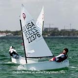 Miami Sailing Week Opti RWB fleet.